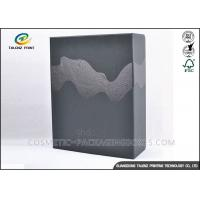 China Embossing Black Merchandise Packaging Boxes , DIY Packaging Box With Drawer wholesale