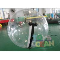 China Germany Zipper Clear Inflatable Water Walking Ball Strong 1mm PVC TPU For Adults wholesale