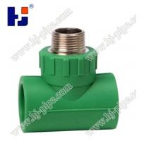 China Plastic pipe fittings PPR male tee wholesale