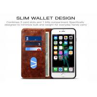 China Card Slots Leather Flip Phone Cover For iPhone 8 , Leather Flip Phone Case wholesale