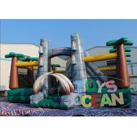 China Jurassic Park Dinosaur Inflatable Playground For Outdoor Party Rental wholesale