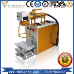 China Portable type high precision fiber laser marking machine. TL20W best prce. THREECNC wholesale