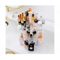 Quality Spinning holder storage rack 360 degree rotation square cosmetic makeup storage for sale