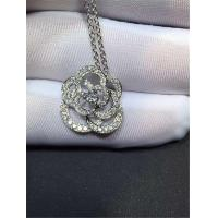 China Chanel full diamonds of camellia necklace 18kt gold  with yellow gold or white gold wholesale