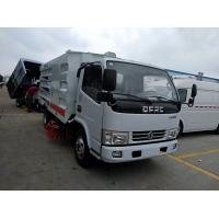 China dongfeng road cleaning sweeper truck with 4m3 water and 3m3 dust, dongfeng road sweeping and washer vehicle on sale