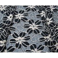 Quality Black / White Knitted Elastic Lace Fabric For Lady Garment Sunflower Pattern CY-DK0008 for sale