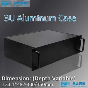 China 3u/19 aluminum server chassis 133x483x300/350/450/500mm metal enclsoure 1u 2u 3u 4u 5u 6u 7u 8u on sale