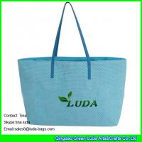 China LUDA  blue cheap handbags online paper straw beach bags and totes wholesale