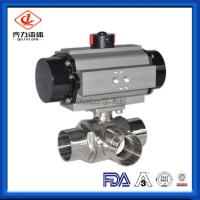 China L Or T Type Sanitary Ball Valves Butt Weld Pharmacy Chemical Fluids Use wholesale