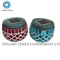 China Glass Mosaic Solar Lights , Merry Nine Solar Powered Color Changing LED Lights on sale