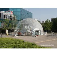 China Transparent PVC Cover Geodesic Dome Tents For Wedding / Party 100 - 10000 People wholesale
