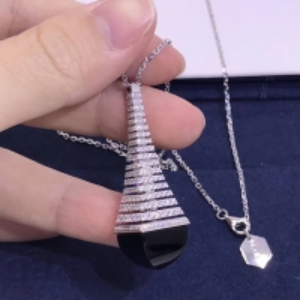 "China 18 Karat Gold 0.72tcw 43"" Chain Diamond Pendant Necklace marli jewelry near me wholesale"