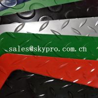 China Colorful Plastic Sheet diamond embossing mat , PVC garage floor mats wholesale
