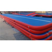 China Small Air Track Pool Mat , Inflatable Air Tumble Track Trampoline For Outdoor Sports wholesale