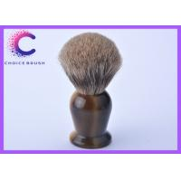 Quality Cosmetic Ox Horn Handle Pure Badger Shaving Brush , shaving soap brush for sale