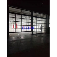 China Aluminium glass Garage Doors With powder coated color and Remote Control for construction on sale
