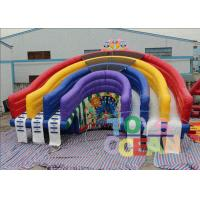 China Colorful Rainbow Inflatable Pool Water Slide Inflatable Rainbow Water Slide For Pool wholesale