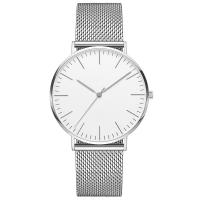 China 3 ATM Water Resistant Silver Stainless Steel Watch 316l 40mm Diameter Watch Case wholesale