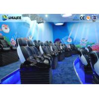 China Midsize 4D Cinema System , Black and white Glass Fiber Reinforced Motion Chairs And Black Leather wholesale