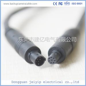 China 8 Pin Mini Backup Camera Cable Adapter , Waterproof Backup Camera Extension Cable wholesale