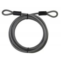 China Steel Wire Rope Assemblies Master Lock Cable With Looped Ends 15 Ft Long wholesale