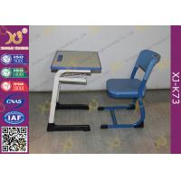 China Wooden Single And Double Student Desk And Chair Set Steel Frame wholesale