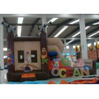 China Grey Pirate Ship Inflatable Bouncer Combo Castle For Adult  Free Logo wholesale