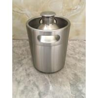 China 2L Mini keg growler stainless steel food grade material Beer growler with tap faucet wholesale