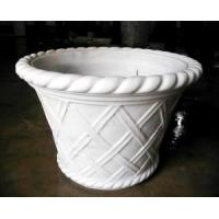China White Marble Craved Flower Pots wholesale