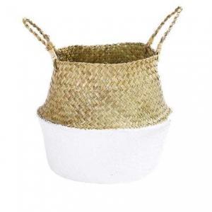 ODM Artificial Plant Accessories Bamboo Woven Basket Rattan Portable Flower Pot