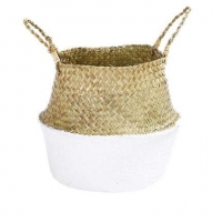 Quality ODM Artificial Plant Accessories Bamboo Woven Basket Rattan Portable Flower Pot for sale