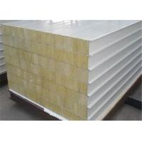 Quality Rockwool Sandwich Panel 950mm 960mm 1150mm Width Roof / Wall Sandwich Panel for sale