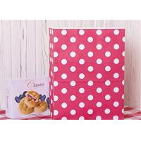 China Red Dots Paper Packaging Bags with Handle Gift Bags 8x4.75x10.5 inch Shopping Bag wholesale