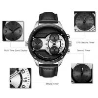 Quality CADISEN Business and Leisure Random Match Men Multi Time Zone 30m Waterproof for sale