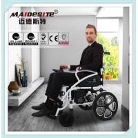 China Medical Lightweight Motorized Folding Wheelchair , Disabled Power Electric Wheelchair wholesale