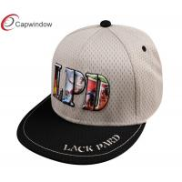 China Adjustable Strap Mesh Snapback Baseball Caps Six Panel Baseball Hats wholesale