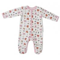 China Winter Cute Newborn Baby Clothesbaby Girl Sleepwear With Alll Over Prints wholesale
