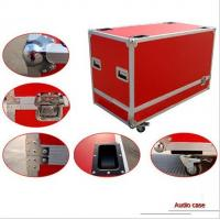 China Blue Plywood AluminumTool Cases With 13cm Height Wheels wholesale