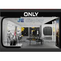 Modern store interior design for fashion cloth display by black glossy