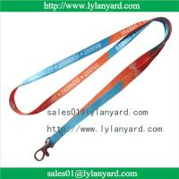 China 10mm Dye Sublimation Print Custom Made Lanyard and ID Tag on sale