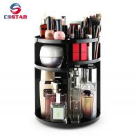 China Wholesale black 360 spinning rotating makeup stand organizer cosmetic storage display rack wholesale