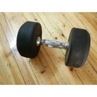China rubber coated dumbbell wholesale