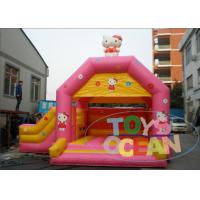 China 0.55mm PVC Princess Pink Inflatable Bouncer With High Precision Stitching wholesale