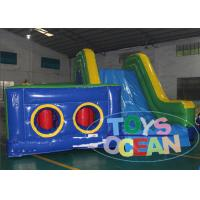 China Inflatable Jumping Obstacle Course Equipment With Fun Slide PVC Tarpaulin wholesale