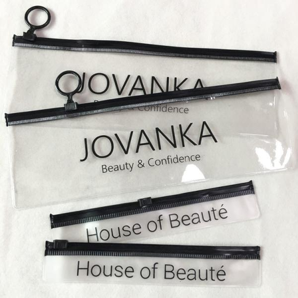 Quality Long Size Transparent Plastic Bag With Own Design Custom Hair Extension Package Bag PVC Zip Lock Bag for sale