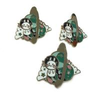China Cute Style Hard Enamel Lapel Pins 0.8 - 3inch Size Iron / Zinc Alloy Material on sale