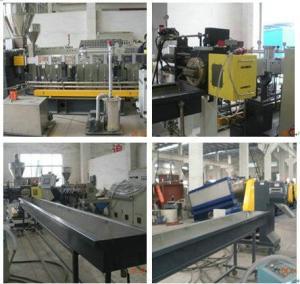 China PET Waste Plastic Granule Twin Screw Extruder , PET Bottle Flakes Pellet Machinery wholesale