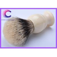 Quality Fan shape finest badger shaving brush with faux ivory handle men's grooming tool for sale