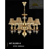 China Luxury Hotel Chandelier Pendant Lights Warm White Textile Embossing Fabric wholesale