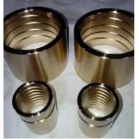 China Centrifugal Casting Bronze Sleeve Bearings For Hoisting Machinery High Load Capacity on sale